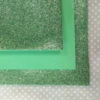 Глиттерный фоамиран 20х30, толщина 2 мм, цвет мятный, 1 шт.