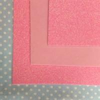 Глиттерный фоамиран 20х30, толщина 2 мм, цвет холодный розовый (барби), 1 шт.