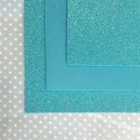 Глиттерный фоамиран 20х30, толщина 2 мм, цвет морская волна, 1 шт.