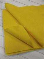 Фетр мягкий размер 20х30 см, толщина 1 мм цвет желтый, 1 шт.