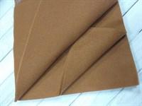Фетр мягкий размер 20х30 см, толщина 1 мм цвет рыже-коричневый, 1 шт.