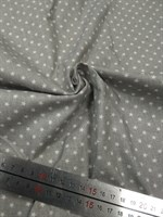 Отрез ткани бязь Звездочки на сером, 50*50 см