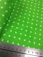 Отрез ткани бязь Звездочки на салатовом, 50*50 см