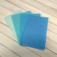 Набор жесткого фетра, размер 10х15 см, 4 шт., цвет голубой микс