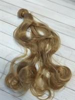 Трессы кукольные, длина 40 см, ширина 100 см, цвет золотистый, 1 шт.