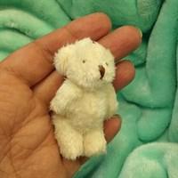 Игрушка. Мишка малый. Высота 6,5 см. Цвет кремовый