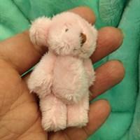 Игрушка. Мишка малый. Высота 6,5 см. Цвет розовый