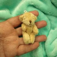 Игрушка. Мишка малый. Высота 6,5 см. Цвет бежевый