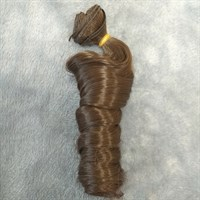 Трессы кукольные, длина 30 см, ширина 100 см, цвет каштановый, 1 шт.