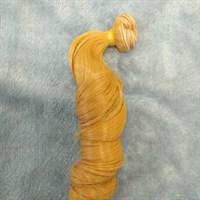 Трессы кукольные, длина 30 см, ширина 100 см, цвет золотистый, 1 шт.