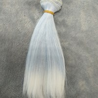 Трессы кукольные, длина 15 см, ширина 100 см, цвет голубой холодный + белый, 1 шт.