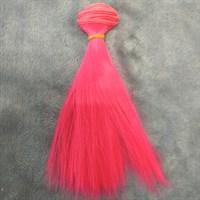 Трессы кукольные, длина 15 см, ширина 100 см, цвет неоновый розовый, 1 шт.