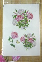Термоналейка Розы 1, 7х10 см, 1 лист