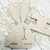 Заготовка из фанеры Подставка под смартфон / Заготовка для раскрашивания Кролик, 1 шт.