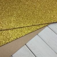 Фетр глиттерный 20х30см, 2 мм, цвет золото, 1 шт.