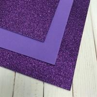 Глиттерный фоамиран, 20х30 см, толщина 2 мм, цвет фиолетовый, 1 шт.