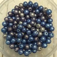Бусины, цвет микс серо-голубой, 6 гр.