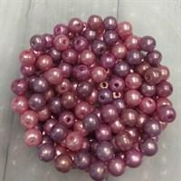 Бусины, цвет микс ягодный, 6 гр.