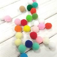 Помпоны синтетические, диаметр 15 мм, цвет яркий микс, 20 шт.