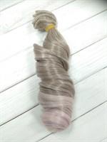Трессы кукольные, длина 30 см, ширина 100 см, цвет пепельный + пудровый, 1 шт.