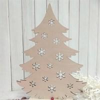 Набор заготовок для новогоднего декора Елочка со снежинками большая, 240х180 мм