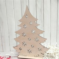 Набор заготовок для новогоднего декора Елочка со снежинками средняя, 220х170 мм