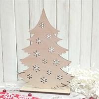 Набор заготовок для новогоднего декора Елочка со снежинками малая, 180х135 мм