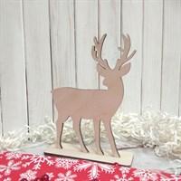Набор заготовок для новогоднего декора Олень большой, 120х155 мм