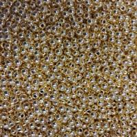Бусины цвет золото, диаметр 3 мм, 20 шт.