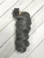 Трессы кукольные, длина 30 см, ширина 100 см, цвет серый, 1 шт.