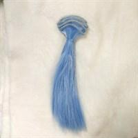 Трессы кукольные, цвет синий, длина 15 см, ширина 100 см,  1 шт.