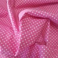 Отрез ткани бязь Горошки на малиновом, 50*50 см