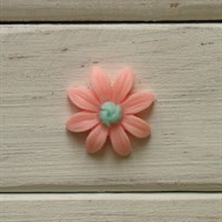 Кабошон пластиковый , цвет персиковый,  23 мм, 1 шт.